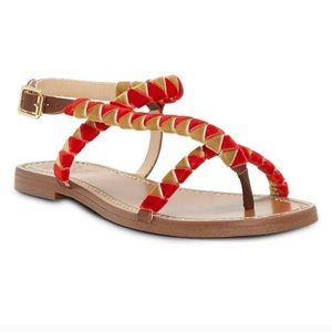 Vince Camuto  Raminta Velvet And Leather Sandals